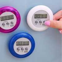 Wholesale Multi Timer Kitchen - Novelty Digital Kitchen Timer Cooking Helper Mini Digital LCD Round Shape Electronic Count Down Clip Timer Alarm ZA1306