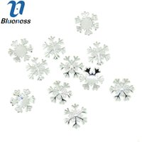 Wholesale Wholesale 3d Nail Decorations - Wholesale- 10pcs lot Silver Alloy Material Nail Art Supplies 3D Snowflake Design For Charms Nail Fashion DIY Decoration TN1622