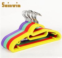 Wholesale Wholesale Plastic Slips For Clothes - Sainwin 10pcs lot 42cm hangers for clothes slip-resistant adult plastic hanger wet and dry clothes rack