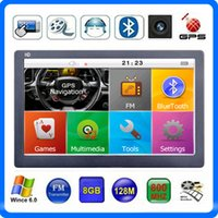 "Wholesale Gps Capacitive - New Capacitive Touch Screen 7"" Car GPS Navigator HD Bluetooth AVIN GPS CPU 800*480 MP4 FM Transmitter 8GB IGO Primo 3D Maps"