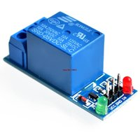 Wholesale Arduino Low - Wholesale-5V Relay Module 1 Channel Low level for SCM Household Appliance Control FREE SHIPPING For Arduino
