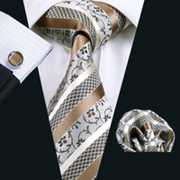 Wholesale Designer Silk Neckties - 2016 New Designer Brand Necktie Groom Gentleman Ties Gray And White Men Wedding Party Formal Silk Tie Corbatas N-0905