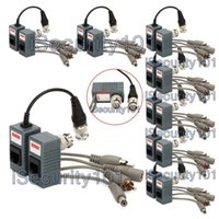 8 Pair BNC a RJ45 CAT5 Video + Audio + Power Balun Ricetrasmettitore 4 Fotocamera CCTV