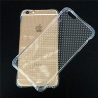 Wholesale Transparent Waist Back - For Samsung S8 Airbag Anti-shock TPU Case Soft Clear Back Cover Small Waist Air Float Protector for iPhone 7 Samsung Galaxy S7