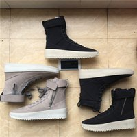 Wholesale Champagne Lace Heels - Fear of god Military Sneakers Men Designer Shoes Boots Autumn Winter Outdoor Army Boots Hight Mens Boots