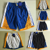 Wholesale Mens Youth Kids Top Quality Sport Training Shorts Throwback Warriors Running Shorts Team Basketball Shorts Loose Polyester Classic Pants
