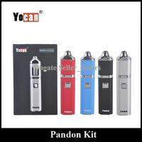 Wholesale Usb Coil - Original Yocan Pandon Wax Kit 1300mAh Portable Vaporizer Dual Quad Coil Micro USB Charging DHL Free Hot Sales