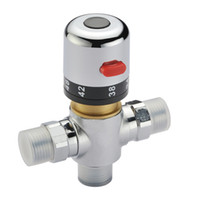 Wholesale solar water heater resale online - degress mixer Valve Adjust the Mixing Water tap Temperature Thermostatic mixer solar water heater valve for bathroom shower