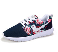 Wholesale Red Flower Top - Top Quality 2016 New Design Flower fashion casual women men shoes hot sale air Mesh casual breathable women shoes