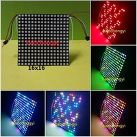 64 Pixeles 256 Pixeles DC5V WS2812B WS2811 5050 RGB LED incorporado SMD Light LED Pantalla de matriz de panel digital individualmente direccionable