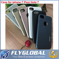 Wholesale Luxury Brushed Aluminum Case - Motomo Luxury Aluminum Cases Metal Brush Plastic Covers Hard Back Case for iPhone 5 5s SE 6 6s 6s Plus for Note 7 5 S7 Metal Cover Cases