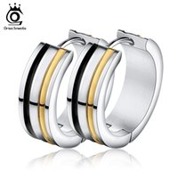 Wholesale Female Friend - Orsa Jewelry High Polished 316L Stainless Steel Silver Plated Earring Gift Present For Friend Female GTE31