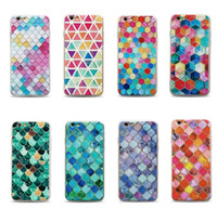 Wholesale Wholesale 3d Cell Phone Cases - Premium stereoscopic 3D releif 2 in 1 TPU PC back silicone cover cell phone case for iphone 6S 7 Plus case embossed TPU painting phone shell