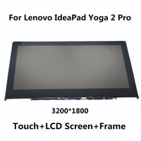 Wholesale Pro Lcd Monitor - Wholesale- For Lenovo IdeaPad Yoga 2 Pro LTN133YL01 New Full LCD Display Panel Monitor + Digitizer Touch Screen Glass Assembly with Frame