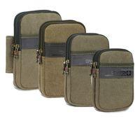 Wholesale Men S Military Bags - bag cushion S L XL XXXL Military Waist Bag Men Women's Canvas Fanny Pack Casual 6.3 inch Mobile Phone Belt Bag