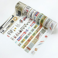 Wholesale Memory Life - 10 Patterns 2016 Vintage Washi Tape Adhesive Tape for DIY Scrapbooking Novel Life Memory Stickers Paper Card Decoration Travel Diary