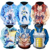 Wholesale dragon ball sweatshirt - Naruto Dragon Ball Z Hoodies 3D Print Pullover Sportswear Sweatshirt Dragonball Super Saiyan Son Goku Vegeta Vegetto Outfit Tops
