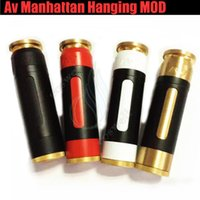 Neueste Av Manhattan hängende Mod USA volle mechanische Tarnung Klon 510 Thread Messing Vape Pen Able 18650 Batterie Mods Dampf e cig Zigarette