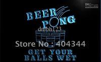 Wholesale White Pong Balls - LB939-TM Beer Pong Get Your Balls Wet Neon Light Sign. Advertising. led panel