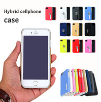 Wholesale Iphone Hard Plastic High Quality - high quality cellphone case TPU+pc hybrid hard armor chockproof back cover smart mobile phone protector for samsung s8 plus iphone X