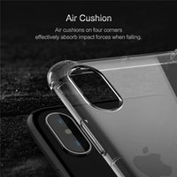 Estojos de telefone celular para i / Phone 8 / X ip6 / 5 New Style Four Corners Air Bag para evitar queda Clear Soft shell pacote impermeável selar soft case