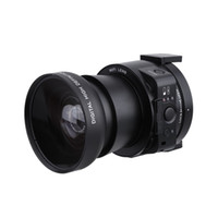 Wholesale Pc Full Hd - AMKOV AMK-OX5 Mini Selfie Lens-style Digital Camera Camcorder Wifi 20MP 5X Optical Zoom Full HD 1080P 30fps PC Camera 120°Wide Angle D3345