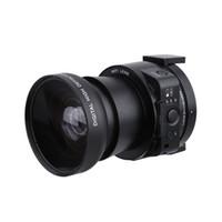Wholesale Mini Camera Hd Optical Zoom - AMKOV AMK-OX5 Mini Selfie Lens-style Digital Camera Camcorder Wifi 20MP 5X Optical Zoom Full HD 1080P 30fps PC Camera 120°Wide Angle D3345