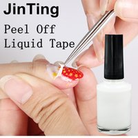 Commercio all'ingrosso- 2016 Nuovo trasporto libero Bianco Peel Off Liquid Nail Art Tape Nastro in lattice Palizzata per Easy Clean Base Gel Coat