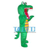 Wholesale Crocodile Outfits - New Big Crocodile Mascot Costume Cartoon Character Mascotte Mascot Outfit Suit