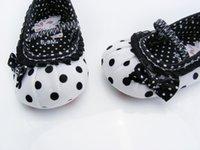 Wholesale Shoes Warm Very - Wholesale- HHot sale Very Cute children's shoe white-black dot Baby Shoes White-black Soft sole baby shoe Girls Warm