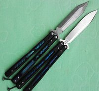 Wholesale American Blade Knife - Benchmade bailisong 51 American butterfly flail Free-swinging Knife 55HRC camping knife copies 1pcs dropshipping freeshipping