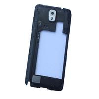 nota lcd siyah toptan satış-3Color Samsung Galaxy Note 3 N9005 Konut Orta Çerçeve Kasa Çerçeve siyah ve beyaz