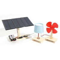 Wholesale Mini Power Station - 1 Set Mini Solar Power Station System DIY Solar Educational Toys For Children science experiments Kits