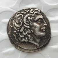 Wholesale Ancient Art - G(01)rare ancient coin Alexander III the Great 336-323 BC.Silver Drachm Ancient Greek Coin copy coins wholesale