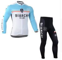 Wholesale New Bianchi Jersey - 2016 new Bianchi Long Ropa ciclismo mtb bicicleta mountain Bike maillot clothing Bicycle cycling jerseys bibs Pant
