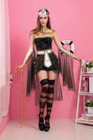 Wholesale Women Cleopatra Costume - Arab Cleopatra queen Halloween cosplay dress costume Party adult warrior clothes female Greek goddess fancy cosplay clothes