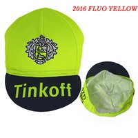 Wholesale Pro Team Hats - 2016 Tinkoff Pro Team Cycling Cap Ciclismo Bike Riding Bicycle Cap Pirate Scraf Cycling Hat Handwear Cap