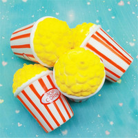 Wholesale Popcorn Supplies Wholesale - Squishy simulation popcorn PU slow rebound decompression toys bread cake eat Squishies early childhood education toys Christmas gifts