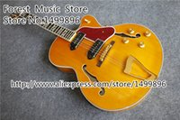 Wholesale Guitar L5 Jazz - Wholesale-New Arrival L5 Electric Jazz Guitar Same As Pictures Hollow Maple Guitar Body Free Shipping