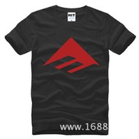 Wholesale Emerica T Shirt - WISHCART US skateboard brand EMERICA arrow dekline Printed Mens Men T Shirt Tshirt 2016 Short Sleeve Cotton T-shirt Tee Camisetas Hombre