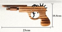 Wholesale wood toy guns - New arrival kids toys wooden toy gun classic playing rubber band toy pistol guns interesting kids guns toys