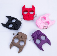 Wholesale Dog Key - Brutus Self Defense Key Chain Dog Skull Shaped Personal Security Women Self-defense Keychains Keychain Factory Direct