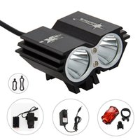 Wholesale Cycle Light Led Cree 2x - 5000 Lumens 2x CREE XM-L T6 LED Cycling Bike Bicycle Light Head front Light flash light+Back Tail Light Safety Rear Lights