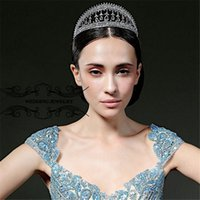 Elegant Wedding Bridal Silver Crown Tiara Princesse Crystal Rhinestone Accessoires pour cheveux Bijoux Headpieces Princesse Reine Prom Head Wearth