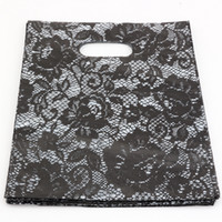 kunststoffschnürung großhandel-Heißer Verkauf! Schmuckbeutel .200pcs 20x25cm schwarze Spitze Plastiktaschen Schmuck Geschenkbeutel.