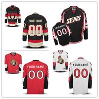 Personalizado Ottawa Senators Custom Mens Womens Youth <b>Customized Hockey Jerseys</b> Home Red Visitante Blanco Negro Third Size S, 4XL
