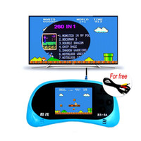 Wholesale Game Player Console Inch - RS-8A Video Game Console 8 Bit 2.5 inch Handheld Game Player Built-in 260 Different Games Children's Game Color Tetris