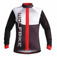 Wholesale Movistar Tops - TOP quality MOVISTAR BRAND winter Fleece Pro Team cycling jersey long sleeve Cycling clothing  Long Sleeve Cycling Jersey(fleece)