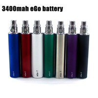 Wholesale Newest Variable Voltage - Newest eGo 3400 mAh Variable Voltage huge capacity battery 3200mah vs ego II 2200 mAh vapen for electronic cigarettes ego mods atomizer