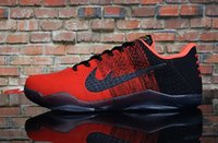 Wholesale Sale Woven Table - Free shipping Cheap Sale kobe 11 Elite Men's Basketball Shoes Top quality XI KB Weaving Breathable Outdoor Training Sneakers Red US 5-12